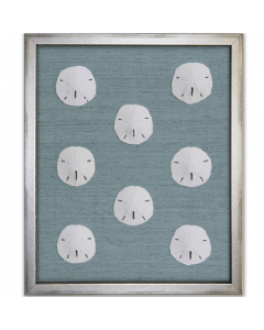 Sand Dollars on Silk Framed Artwork - Available in a Variety of Silk Colors