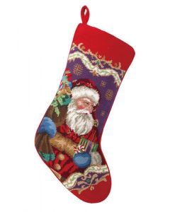 Santa Claus Needlepoint Stocking - ON BACKORDER UNTIL JUNE 2019