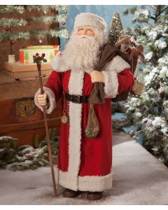 Santa with Bag of Toys Christmas Decoration