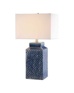 Sapphire Blue Glazed Ceramic Table Lamp