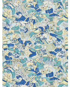 Scalamandre Dragon Dance Chinois Chic Fabric in Summer Sage
