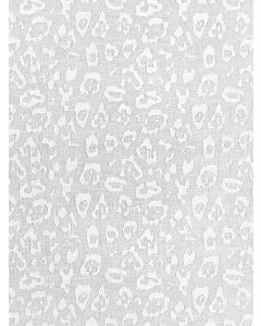 Scalamandre Leopard Linen Sheer Fabric in Ivory