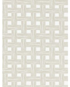Scalamandre Bamboo Lattice Indoor/Outdoor Fabric in Stone Grey