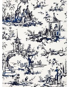 Scalamandre Summer Palace Fabric in Porcelain