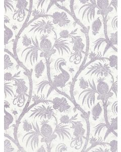 Scalamandre Balinese Peacock Wallcovering in Lavender