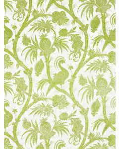 Scalamandre Balinese Peacock Wallcovering in Pear Green