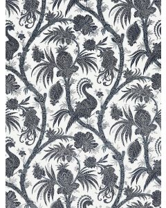 Scalamandre Balinese Peacock Fabric in Indigo Blue