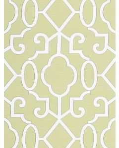 Scalamandre Ming Fretwork Fabric in Pear Green