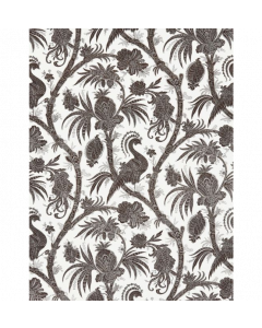 Scalamandre Balinese Peacock Fabric in Java Brown