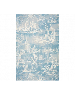 Scalamandre Summer Palace Wallcovering in Sky Blue