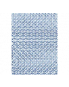 Scalamandre Tile Weave Chinois Chic Fabric in Porcelain Blue