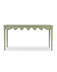 Scalloped Bamboo Console Table - Available in a Variety of Colors