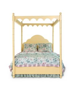 Scalloped Bamboo Fretwork Canopy Bed - Available in a Variety of Colors