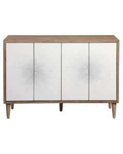 Scandinavian Style Four Door Cabinet with Tapered Legs - ON BACKORDER UNTIL APRIL 2021