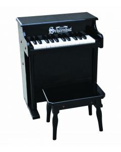 Schoenhut 25-Key Traditional Spinet Toy Piano in Black for Kids