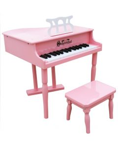 Schoenhut 30-Key Classic Baby Grand Piano for Kids in Pink