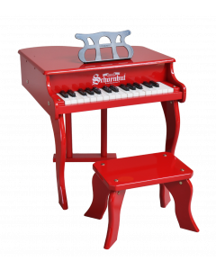 Schoenhut 30-Key Fancy Baby Grand Piano For Kids in Red - ON BACKORDER UNTIL SEPTEMBER 2020