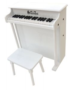 Schoenhut Traditional Deluxe 37-Key Toy Piano in White for Kids