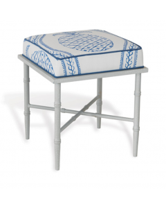 White and Blue Pineapple Design Single Bench