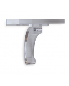 Modern Solid Lucite Wall Bracket