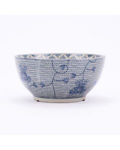 Blue and White Chain Decorative Porcelain Bowl
