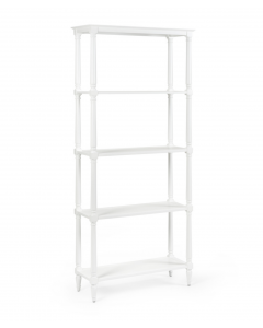 Retreat Wood Etagere With Turned Posts - Available in a Variety of Colors