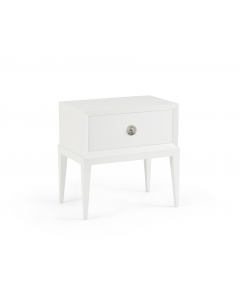 Wood Beveled Side Table With Drawer - Available in a Variety of Colors