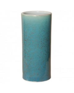 Porcelain Umbrella Stand with Lagoon Speckle Glaze - CALL TO CONFIRM AVAILABILITY