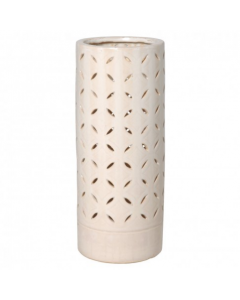 Lattice Umbrella Stand with Crackle Glaze - CALL TO CONFIRM AVAILABILITY