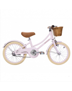 Vintage Style Child's Bike With Basket in Pink