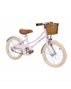 Vintage Style Child's Bike With Basket in Pink- Optional Matching Bike Helmet Available - - ON BACKORDER UNTIL MID-MAY 2020