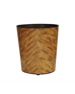 Worlds Away Hand Painted Oval Tortoise Shell Wastebasket