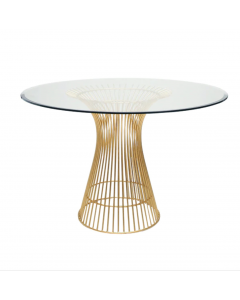 Worlds Away Powell Gold Leaf Dining Table Base With Optional Glass Top