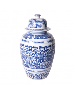 Blue and White Dragon Ginger Jar - ON BACKORDER UNTIL MAY 2021