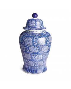 Barclay Butera Dynasty Tang Blue and White Porcelain Ginger Jar