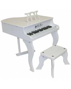 Schoenhut 30-Key Fancy Baby Grand Piano For Kids in White