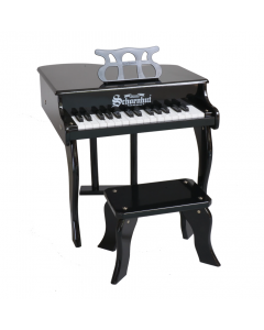 Schoenhut 30-Key Fancy Baby Grand Piano For Kids in Black - ON BACKORDER UNTIL JULY 2020