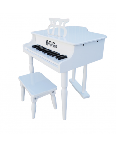 Schoenhut 30-Key Classic Baby Grand Piano For Kids in White -  ON BACKORDER UNTIL SEPTEMBER 2021