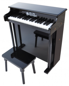 Schoenhut Traditional Deluxe 37-Key Toy Piano in Black for Kids