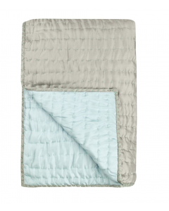 Grey and Blue Luxury 100% Silk Lightweight Quilt – Available in Three Sizes