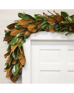 Handmade Copper and Green Fresh Magnolia Garland