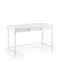Wood Two Drawer Desk With Turned Legs - Can Be Custom Painted in Benjamin Moore - ON BACKORDER UNTIL JULY 2020