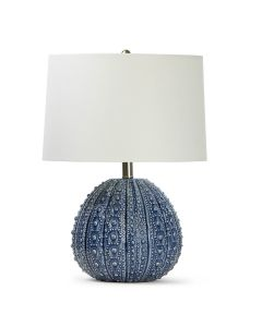 Blue Sea Urchin Ceramic Table Lamp - ON BACKORDER UNTIL LATE FEBRUARY 2021