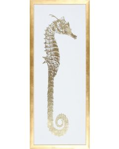 Seahorse I Framed Wall Art in Gold