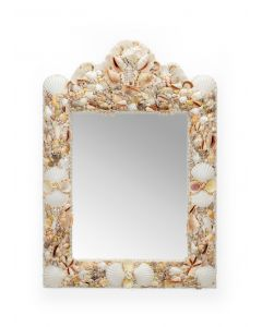 Seaside Natural Shell Decorative Square Wall Mirror - OUT OF STOCK