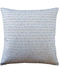 Seeth Decorative Throw Pillow in White and Blue Stripes - Available in Three Sizes