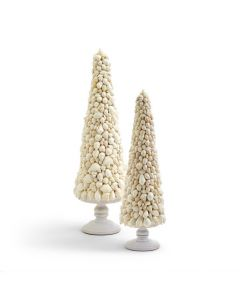 Set of 2 Shell Mosaic Christmas Trees - ON BACKORDER UNTIL AUGUST 2021