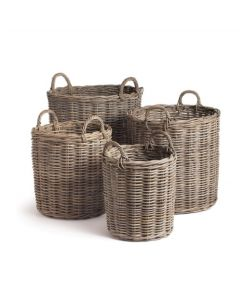 Set of 4 Normandy Round Baskets With Handles - ON BACKORDER UNTIL JUNE 2021