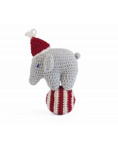 Set of 3 Elephant on Ball Knit Christmas Ornaments