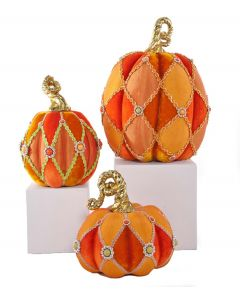 Set of 3 Halloween Pumpkins